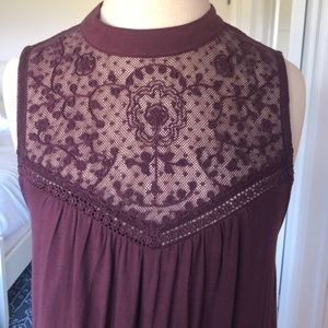 American Eagle Outfitters Dresses - American Eagle Burgundy Sleeveless Dress